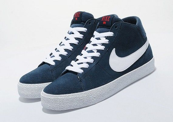 Nike Blazer Mid Bleu Foncé