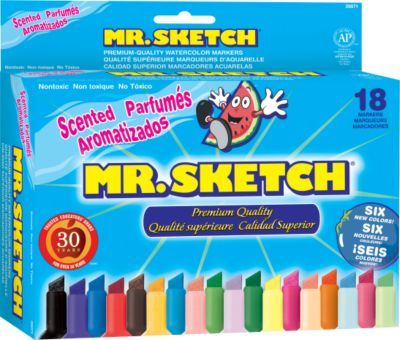 Mr Sketch Scented Water Based Markers Chisel Assorted Colors