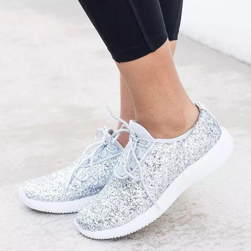 Women Sneakers 2019 Summer Glitter