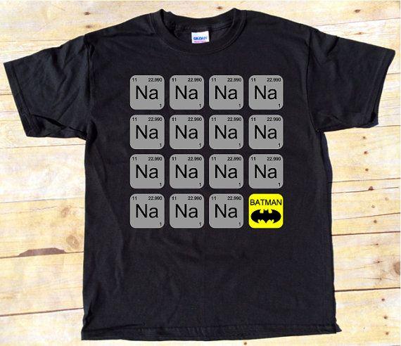 batman t shirt periodic table batman shirt batman theme song t shirt batman song t shirt - Periodic Table Theme Ap