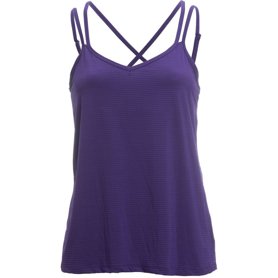 The Beyond Yoga Women's Sleep Stripe Strappy V-Back Cami Top is a meditative dream for restorative yoga. Its ultralight fabric is softer than a bed sheet, and it stretches in case you feel like a more aggressive yoga session.