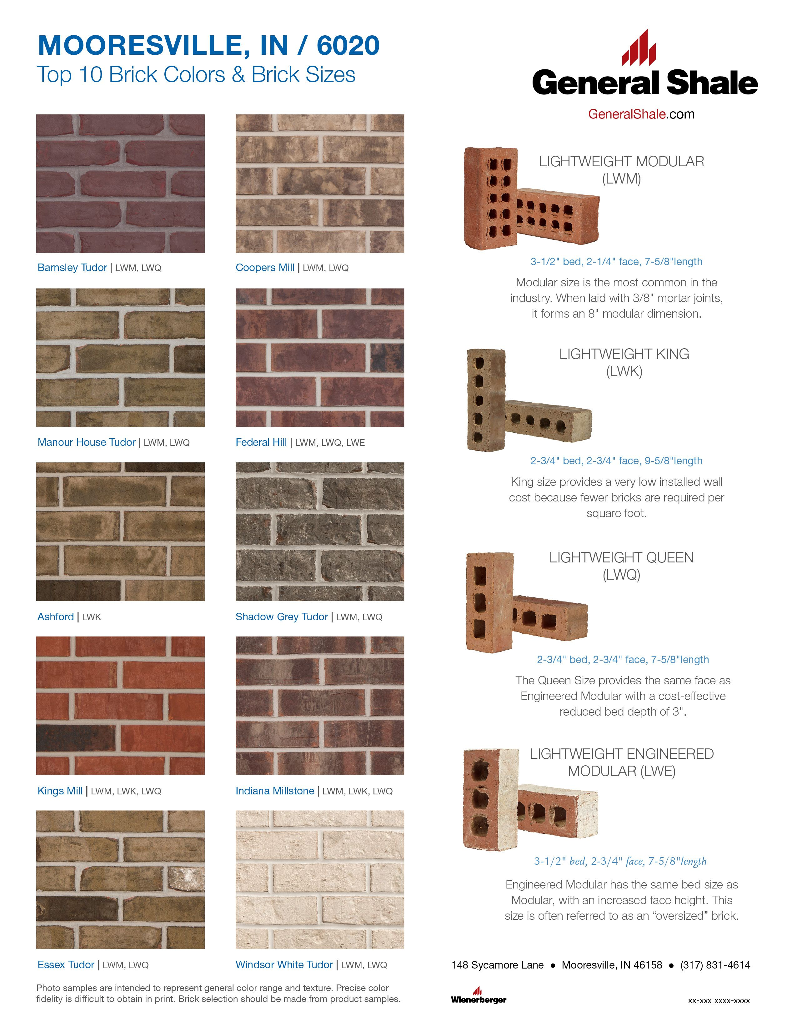Mooresville In Top 10 Brick Colors