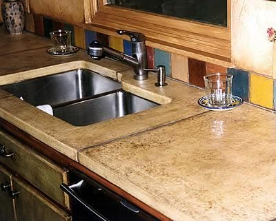 tan polished concrete countertops a1 concrete designs oviedo fl eagle house pinterest. Black Bedroom Furniture Sets. Home Design Ideas
