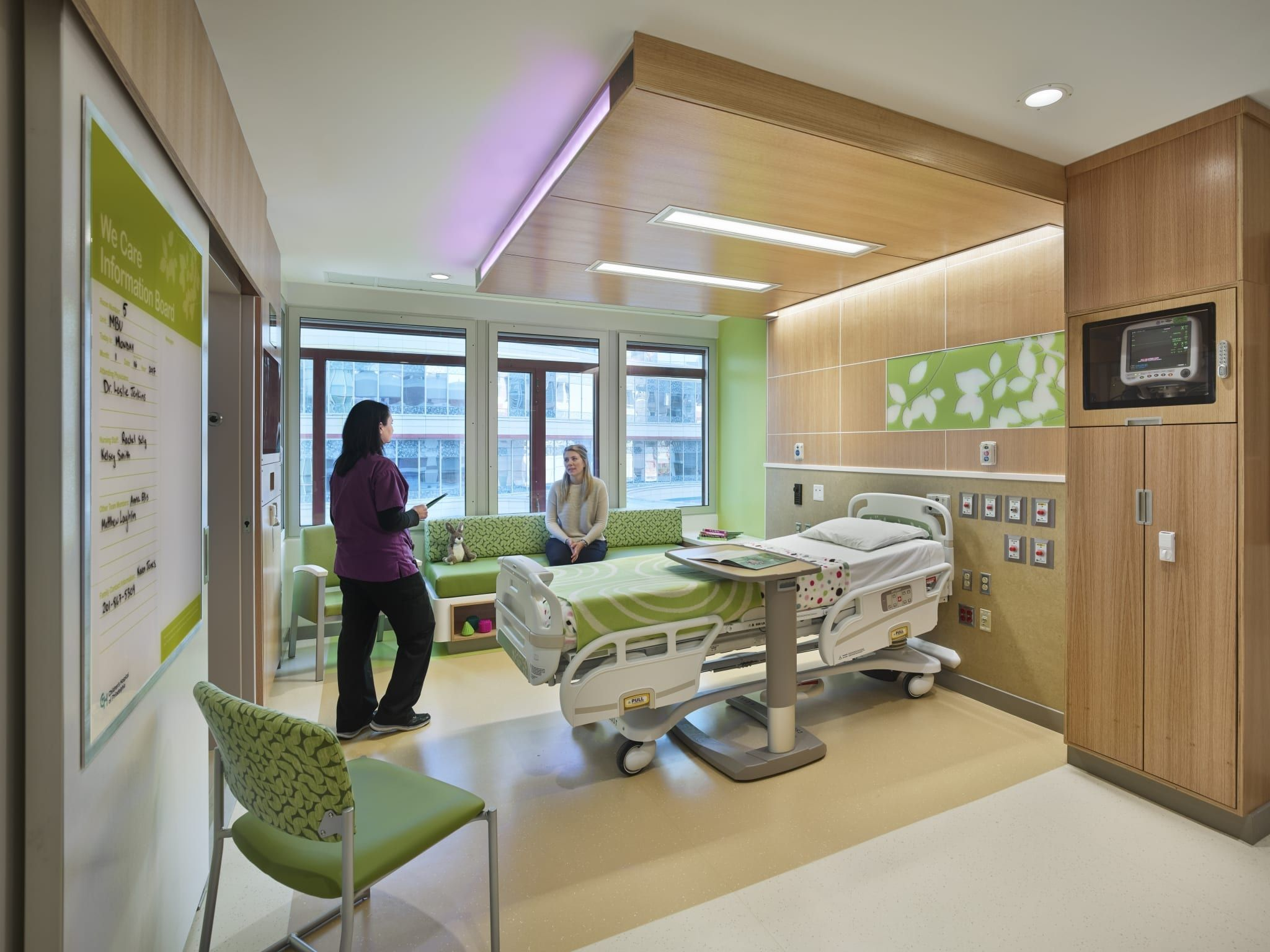 Children S Hospital Of Philadelphia Medical Behavioral Unit Zgf Healthcare Interior Design Hospital Design Lobby Interior Design
