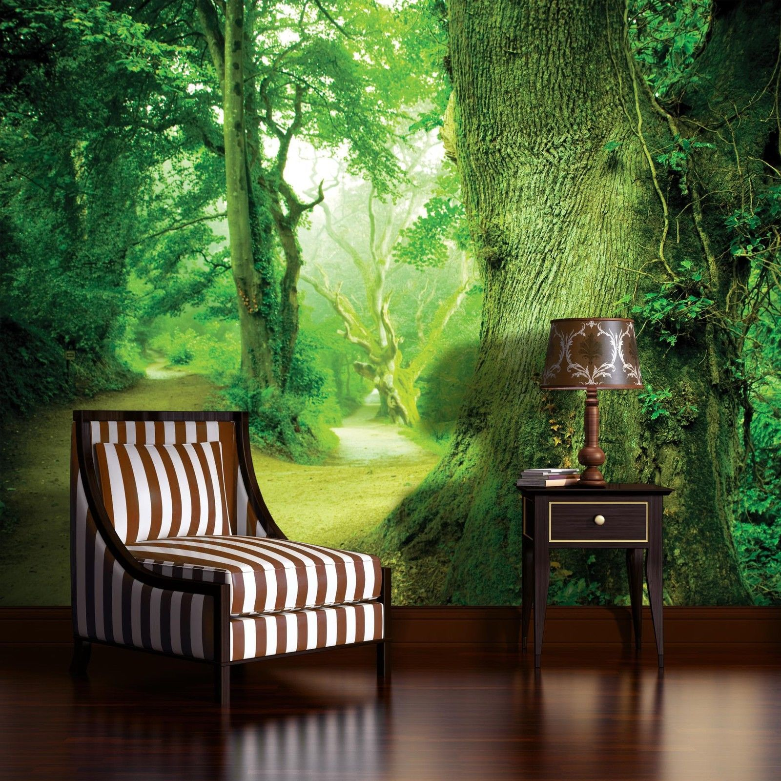 fototapete fototapeten tapete tapeten poster zauberwald baum wald 290 p4 for sale eur 29 90. Black Bedroom Furniture Sets. Home Design Ideas