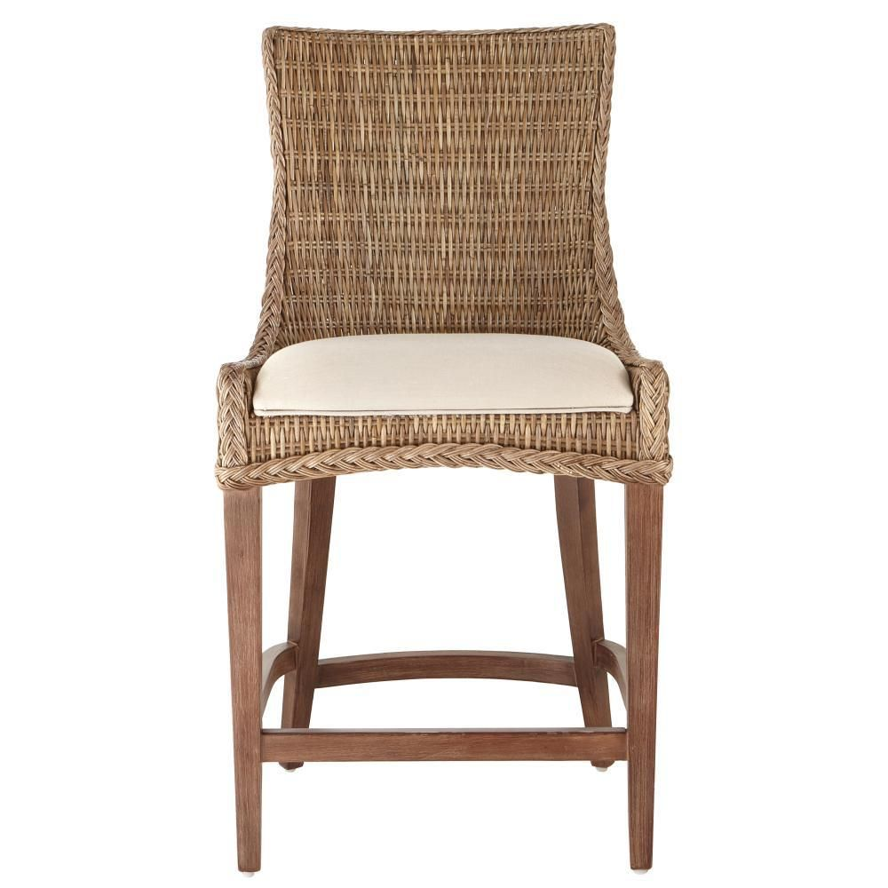 Home Decorators Collection Genie 46 In Brown Weave Wicker