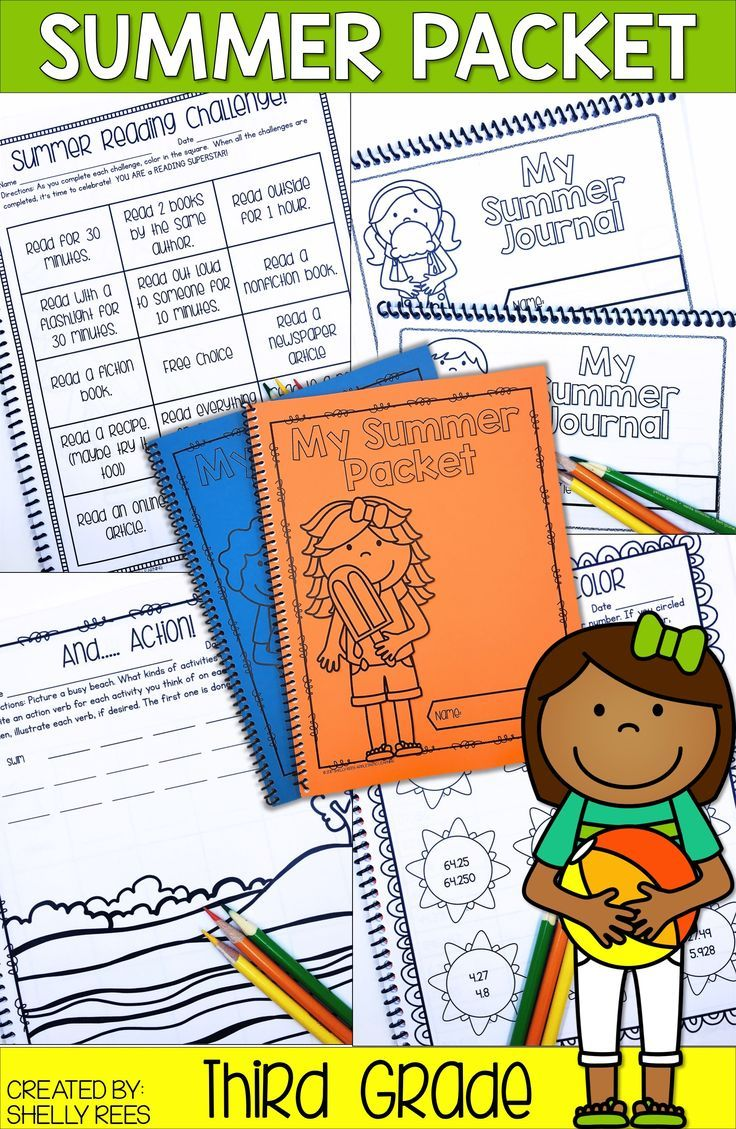 Summer Review Packets Are A Great Way To Help 3rd Grade Students Avoid The Summer Slide These Printable Reading And M Summer Writing Summer Packet Summer Math