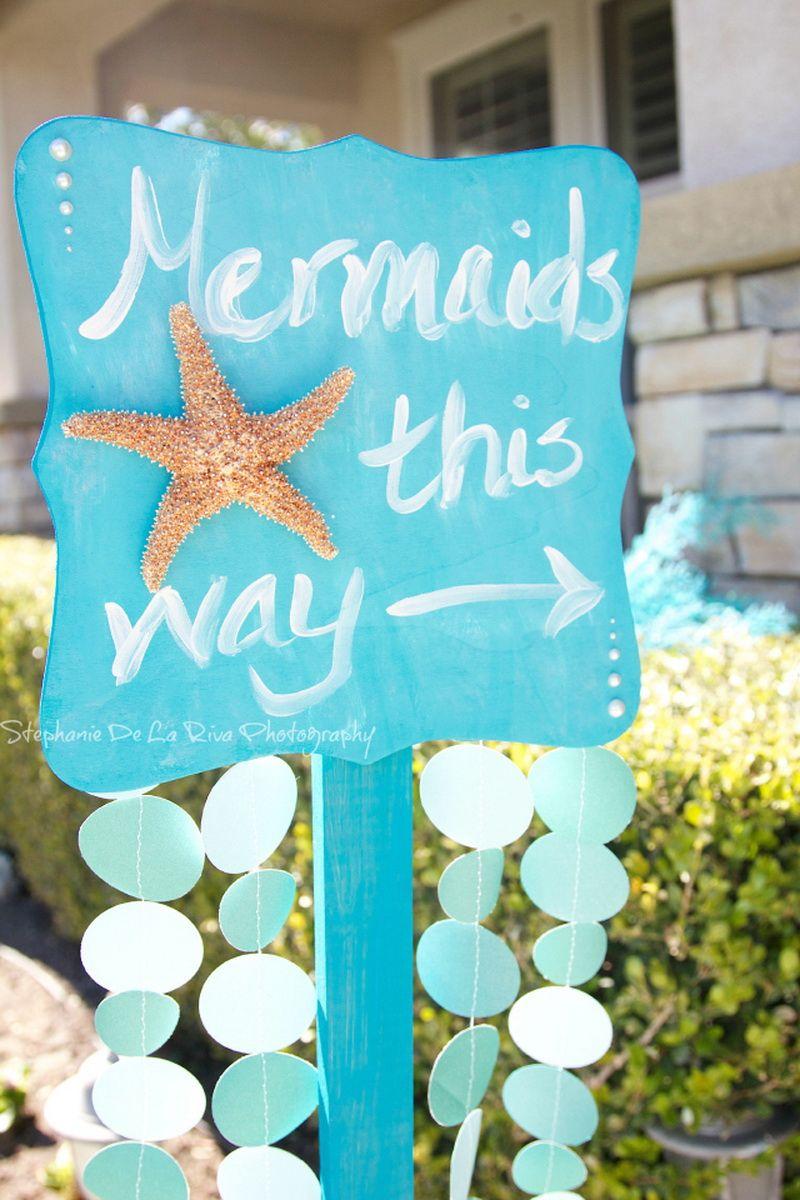 Mermaid Baby Shower Ideas Photo 10 Babykins Pinterest