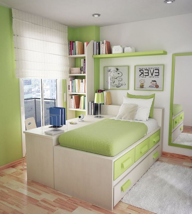 Sweet Green Paint Colors For Small Bedrooms For Teens Wall