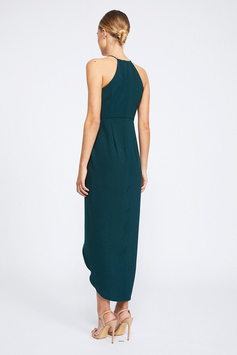 7fe832243d Core high neck ruched dress - seaweed