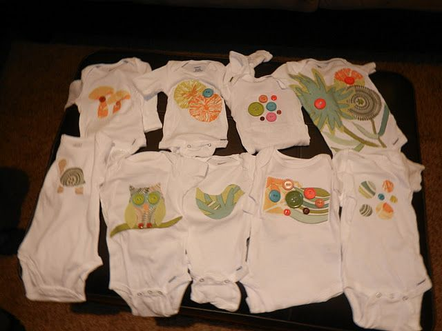 Decorating Onesies At A Baby Shower Craft O Matic Baby