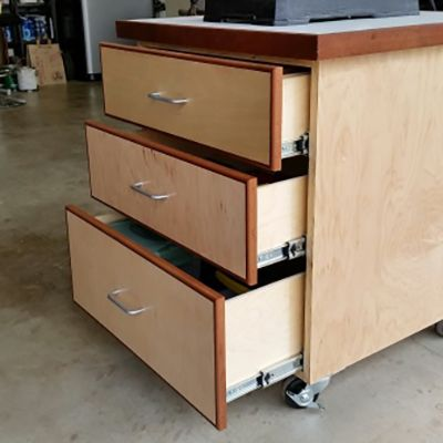 Mobile Drill Press Cabinet | woodworking | Pinterest | Drill press ...
