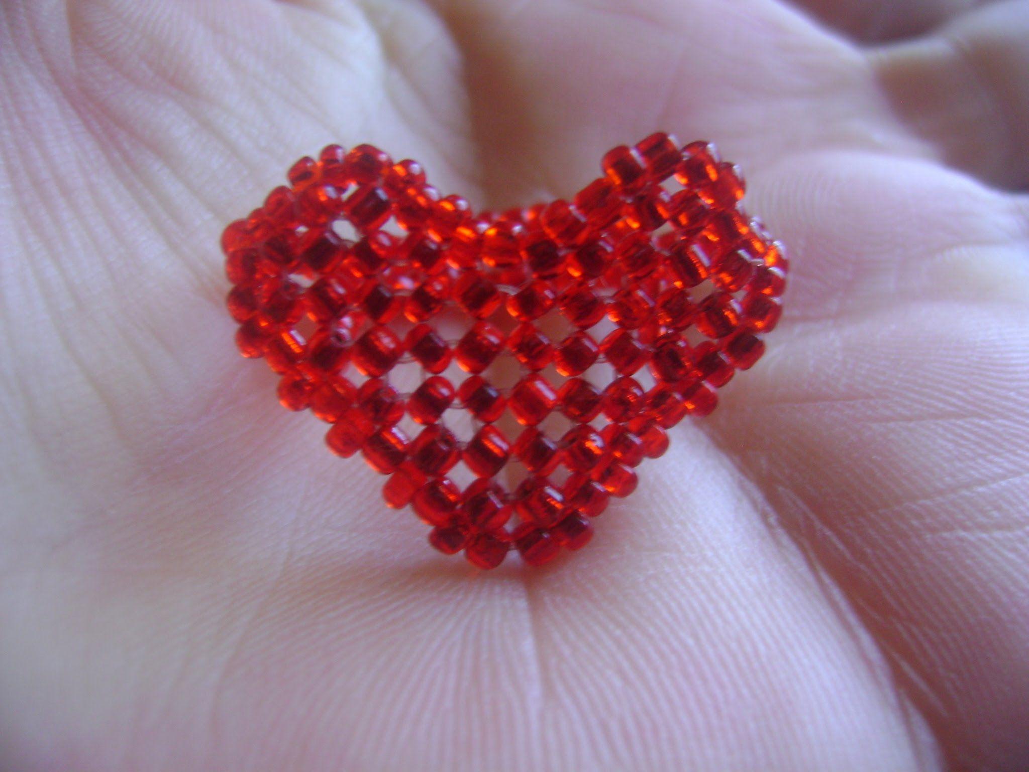 Super Jo Bijoux- Passo a Passo - Anel Coração com miçangas   pedrarias  EA28
