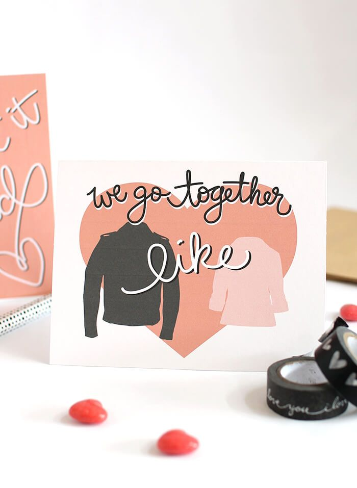 Grease Inspired Printable Valentines *All Things Art + Hand