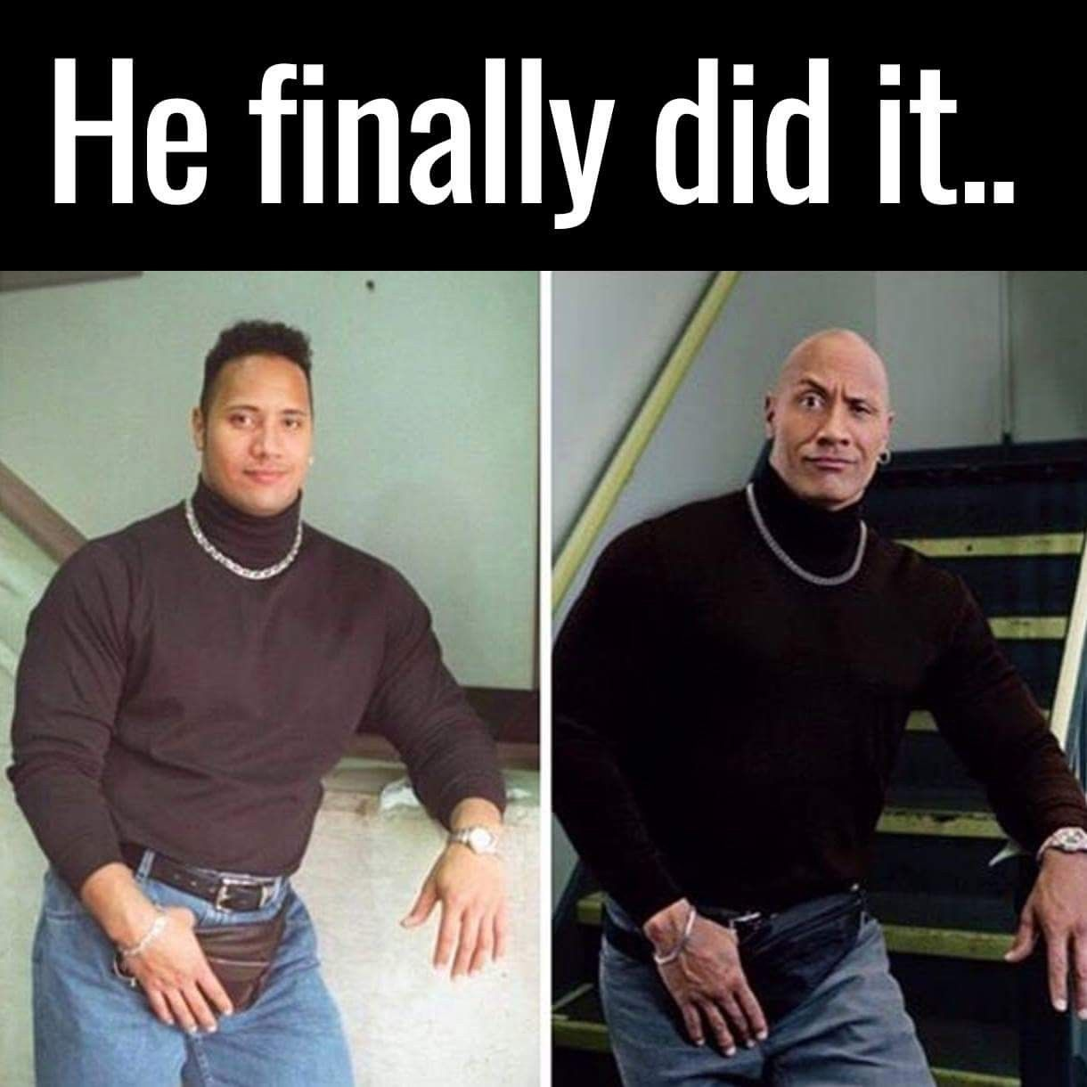 Dwayne Now And Then Dwayne Johnson Memes Really Funny