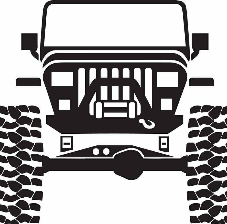 Jeep Decal Wrangler Vinyl Diecut YJ Sticker Truck Rock Crawler