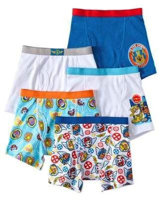 Nickelodeon Boys Paw Patrol 5 Pack Boxer Brief