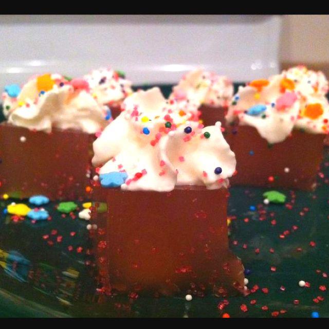 Birthday Cake Jello Shots :) Yes!