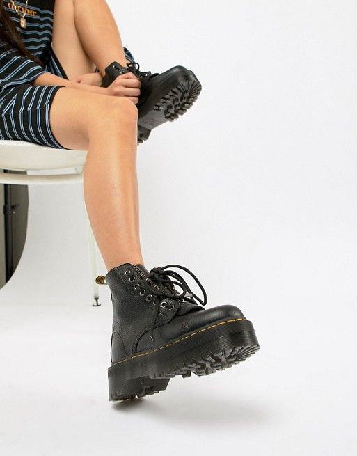Dr Martens Sinclair Black Leather Zip