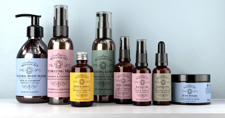 FSG Brand Design Packaging Botanicals Organic Skincare