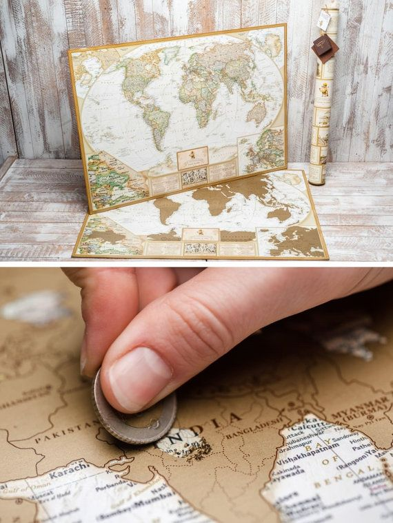 Unique wedding gift for couple stratch off travel by themaplab world map scratch off where youve been by themaplab on etsy gumiabroncs Gallery
