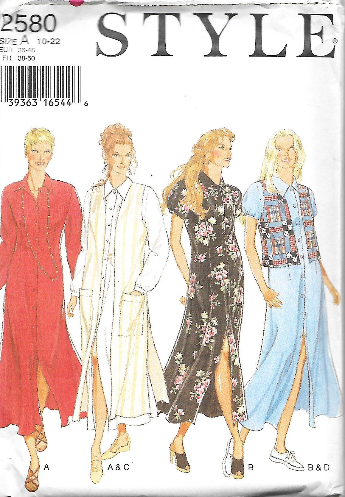 McCall/'s 6182 Misses/' Dress in Two Lengths   Sewing Pattern