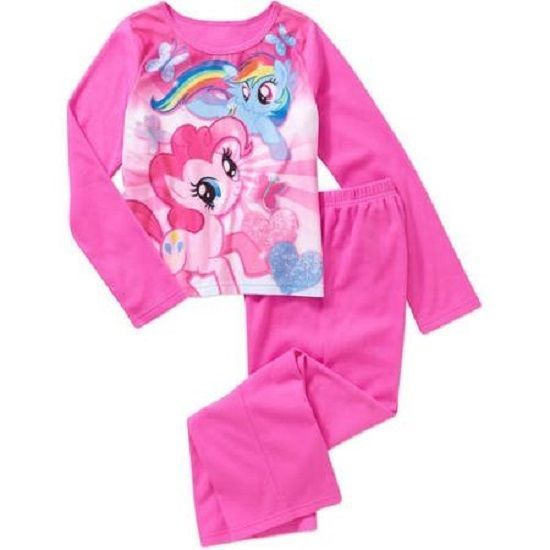 ef93f7d05e Girls My Little Pony Flannel Pinkie Pie   Rainbow Dash 2pc Pajama Set NWT  6 6x  HASBRO  PajamaSet