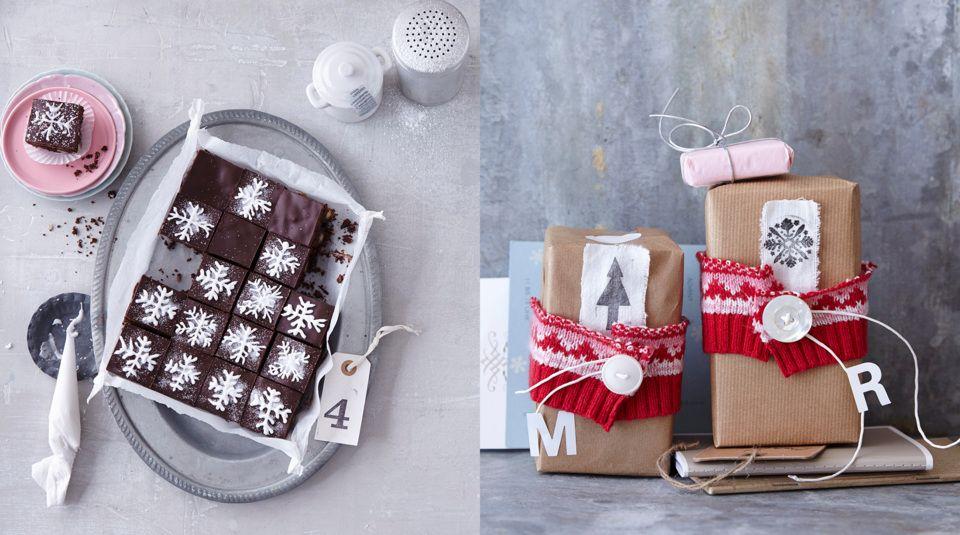 Geschenke aus der Küche Brownies als Geschenk verpacken