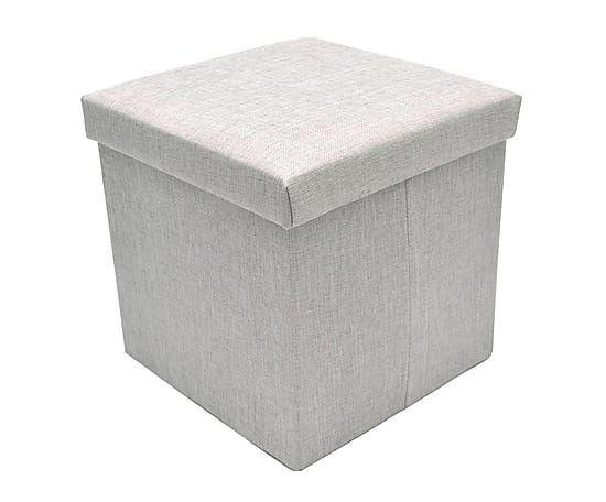 Puf plegable con espacio de almacenamiento Natural - gris | Proyecto ...