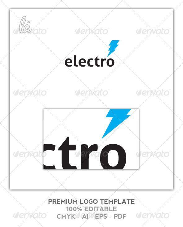 Electro Logo  Electrician Logo  Energy Logo  Vector File Logos