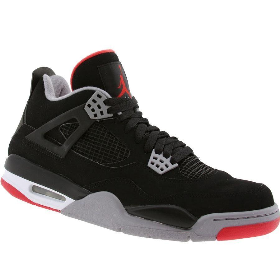 Air Jordan 4 Retro Countdown Split Negro Varsity Rojo Gris Salida De Fábrica