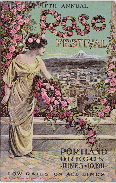 Antique 1911 Rose Festival Postcard - The Cedar Chest blog