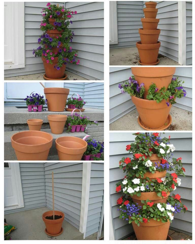 Diy Flower Tower Planter: Flower Tower, Container