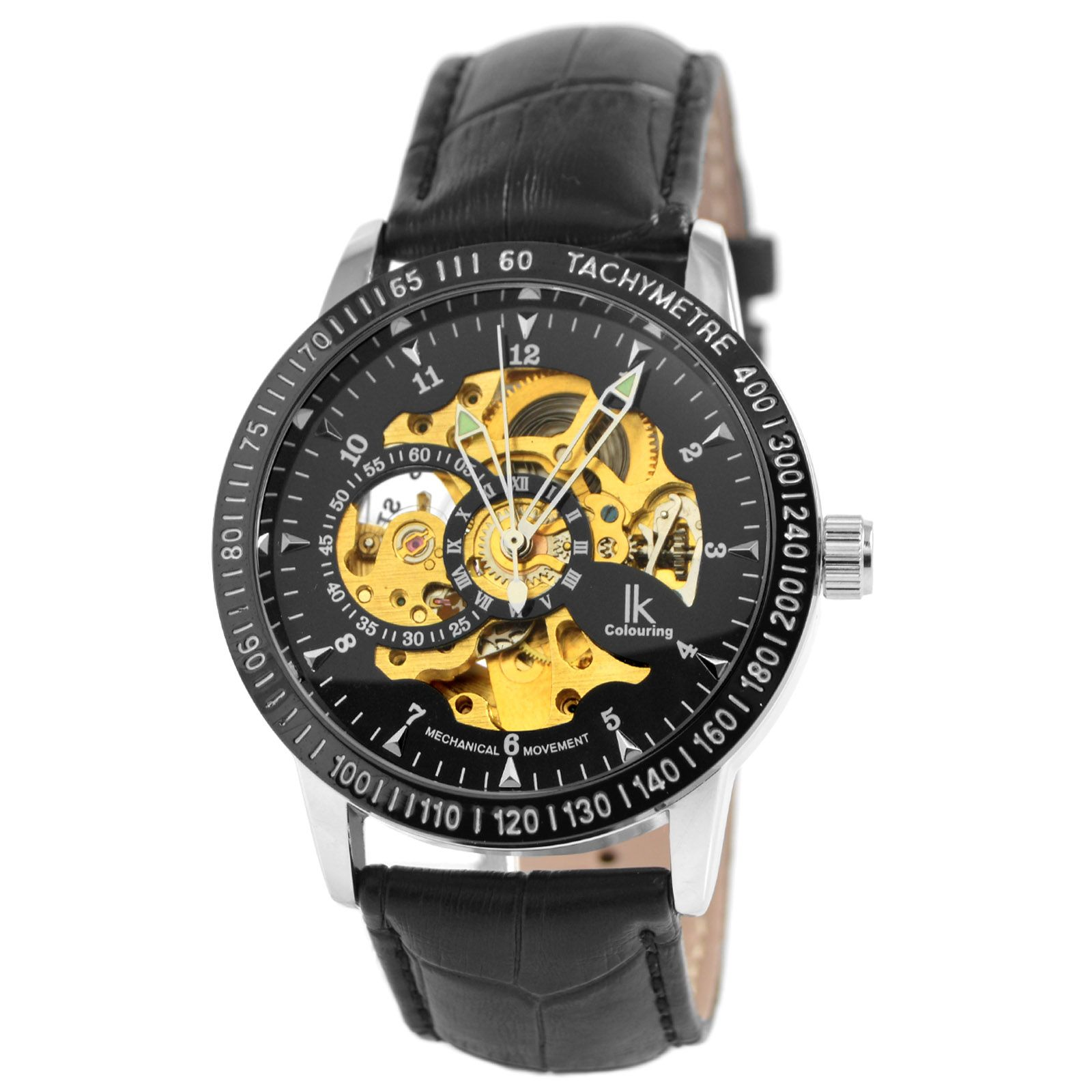 5687b04ceeb Black Leather Rolat Watch Colouring, Sorting, Color, Watches, Bracelets,  Accessories,