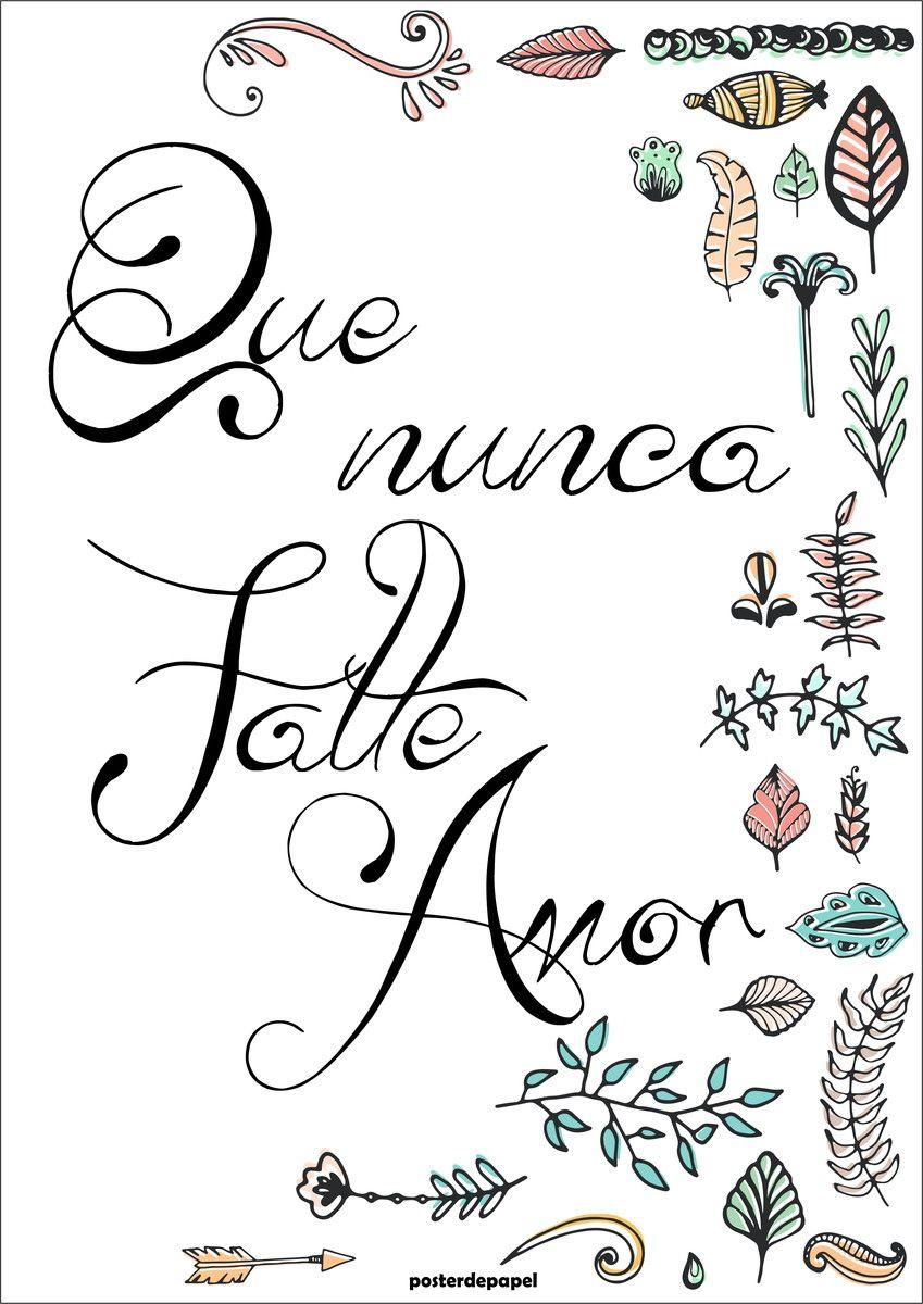 Falte Amor Poster De Papel Elo7 Quadros Com Frases Frases E