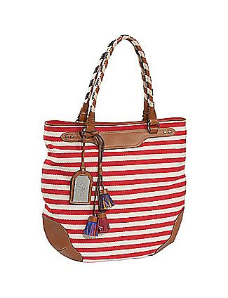 f3530f47d9 Fall in nautical love with this Andalusia Espadrille Stripe Tote by Ralph  Lauren
