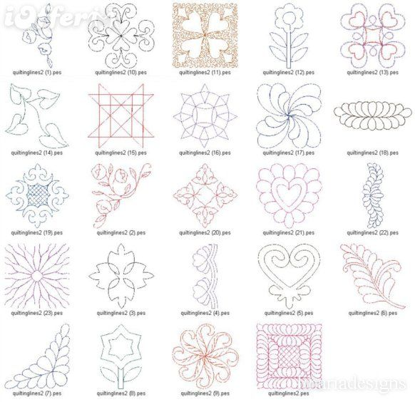 Machine quilting patterns free embroidery designs best