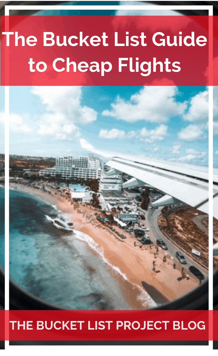 With a lot of research The Bucket List Project has developed a great guide to help anyone find cheap flights to almost any bucket list destination. Check out the Bucket List Guide to Cheap Flights today! #travel #cheapplanetickets #CheapAirfare #SaveOnTravel #CheapFlights #DiscountTravel #PlaneTickets #flightdeals #TravelDeals