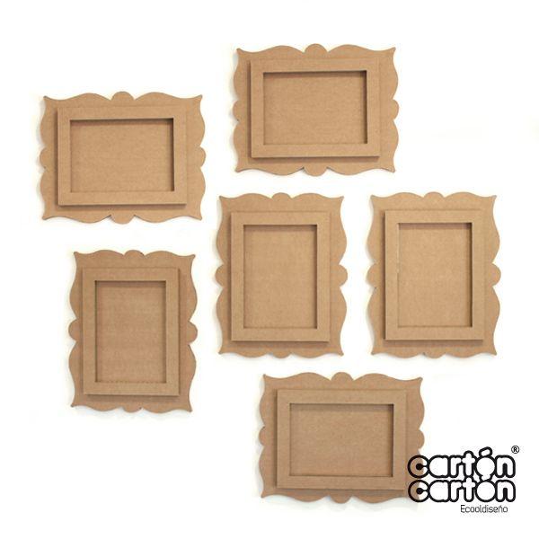 Cart n por fuera cart n por dentro pinterest - Composicion marcos pared ...