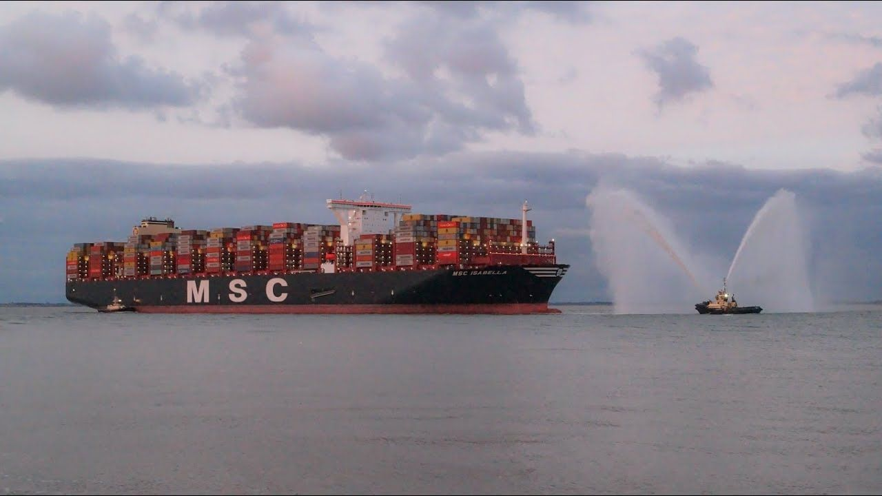 Msc Isabella Worlds 2nd Largest Containership Arriving At The Port Of Felixstowe Msc Port