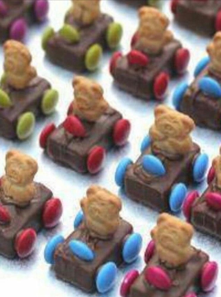 Teddy bear race car treats #teddybear