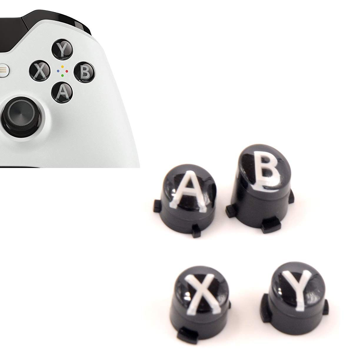 Ctrldepot Abxy Buttons Letters Menu Bullet Button Mod Set For Xbox One S X Elite Controller Replacement Parts Lunar Wh Bullet Button Xbox One S Button Letters