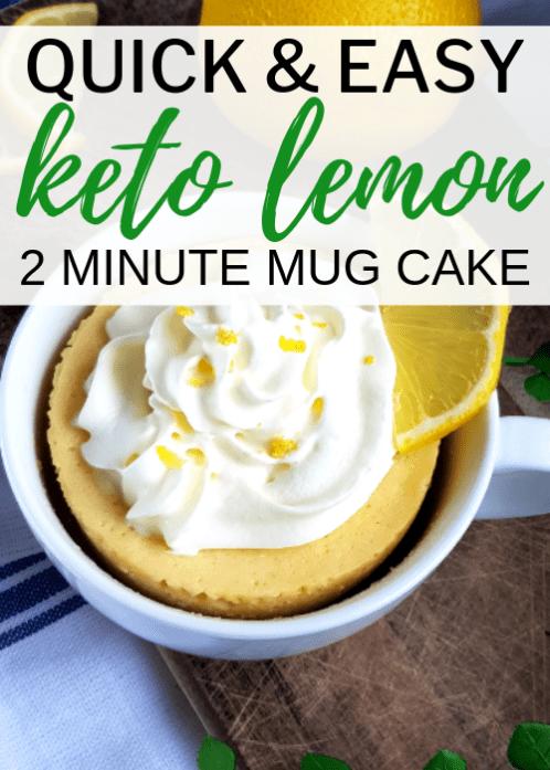 Easy Keto Lemon Mug Cake | Recipe | Lemon mug cake, Low ...