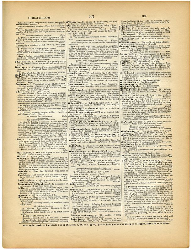 5 Printable Vintage Dictionary Pages