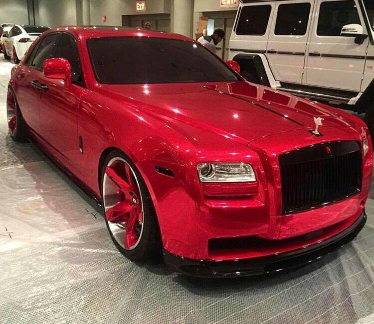 Custom Red Rolls Royce Ghost Luxurylifestyle Luxurycars Rollsroyce Cars Cliccars Luxurygoals Bentley Phantom