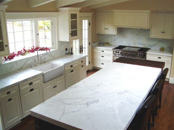 Amazing White Countertops | Statuary White Marble Countertops (3798), Statuary White,  Novato .