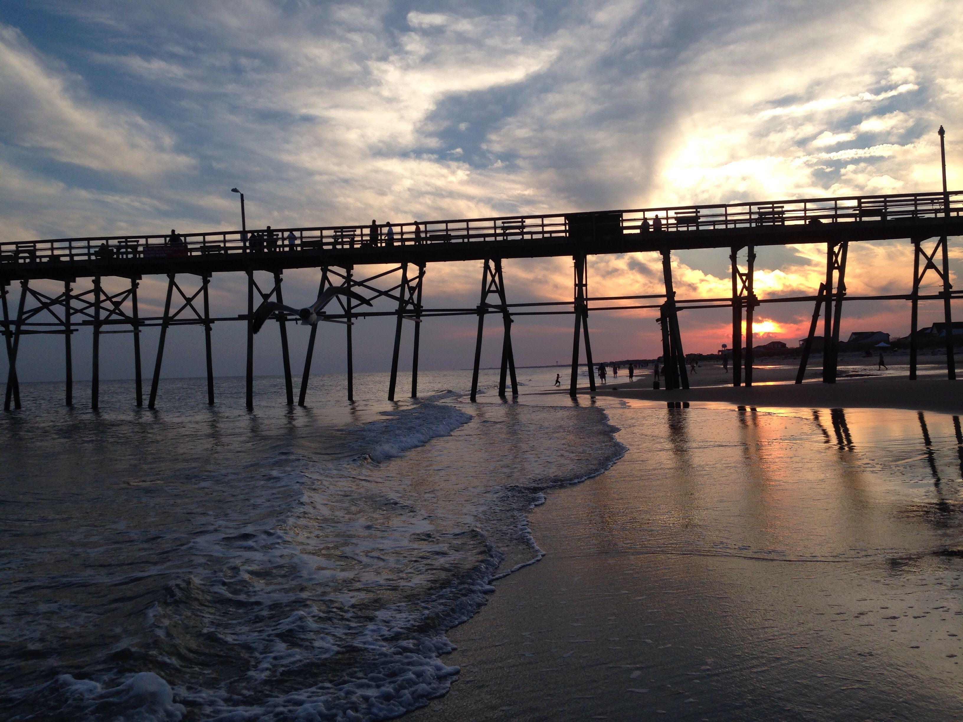 Beautiful sunset at the beach nc north carolina