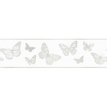 Fine Decor Glitz Butterfly Glitter Wallpaper Border White Silver Dlb50134 Glitter Wallpaper Wallpaper Border White And Silver Wallpaper