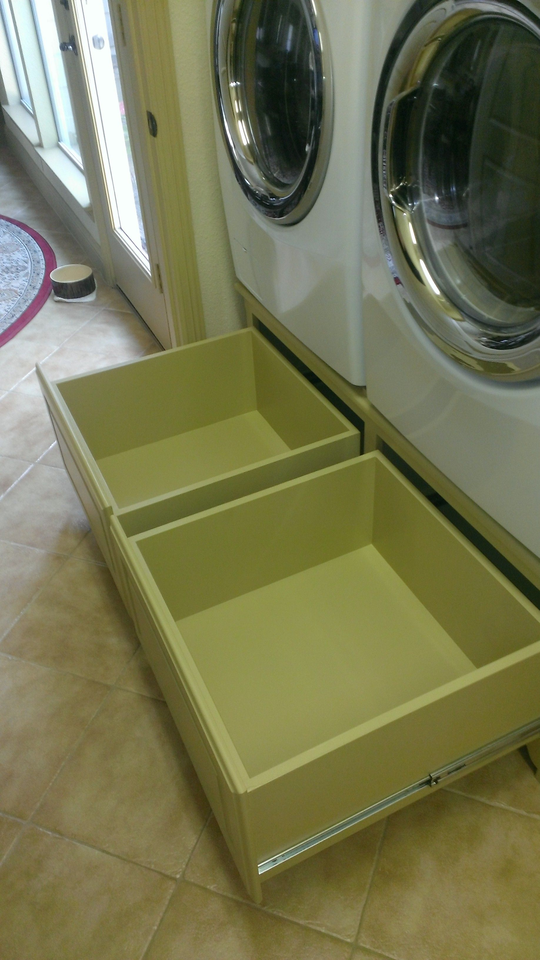 24x24x11 full extension drawers open washer and