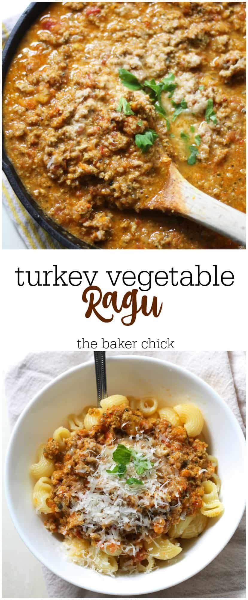 Turkey Vegetable Ragu | Turkey vegetables, Turkey mince ...